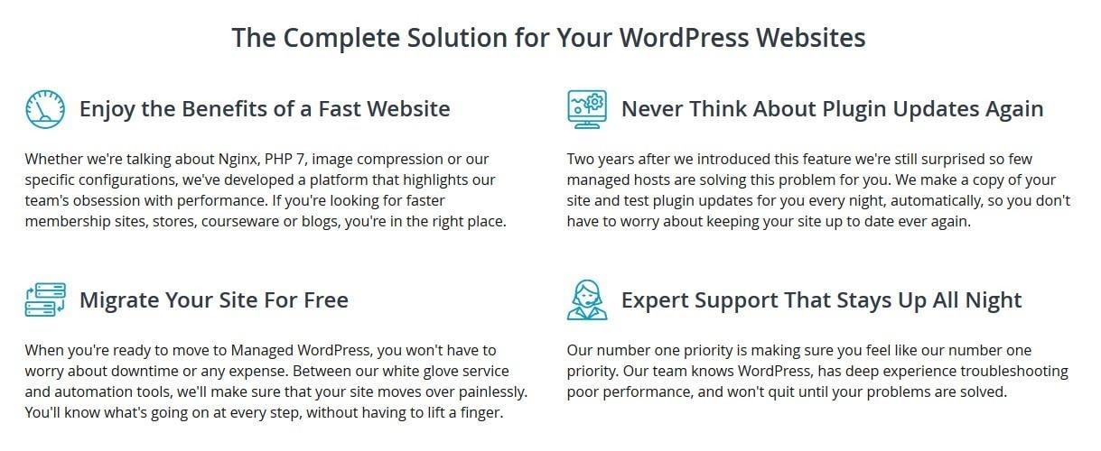 Liquid Web - managed WordPress features