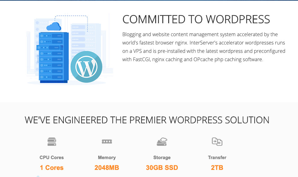 InterServer WordPress VPS
