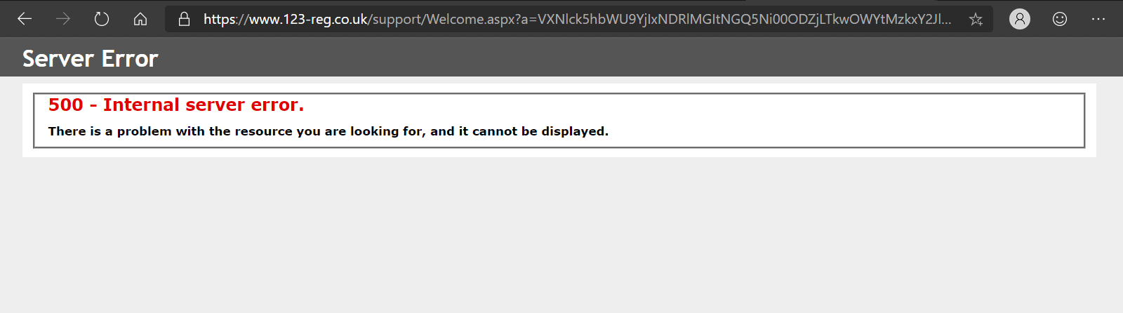 Errors sometimes occur when trying to contact support
