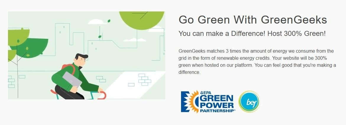 GreenGeeks - an eco-friendly platform