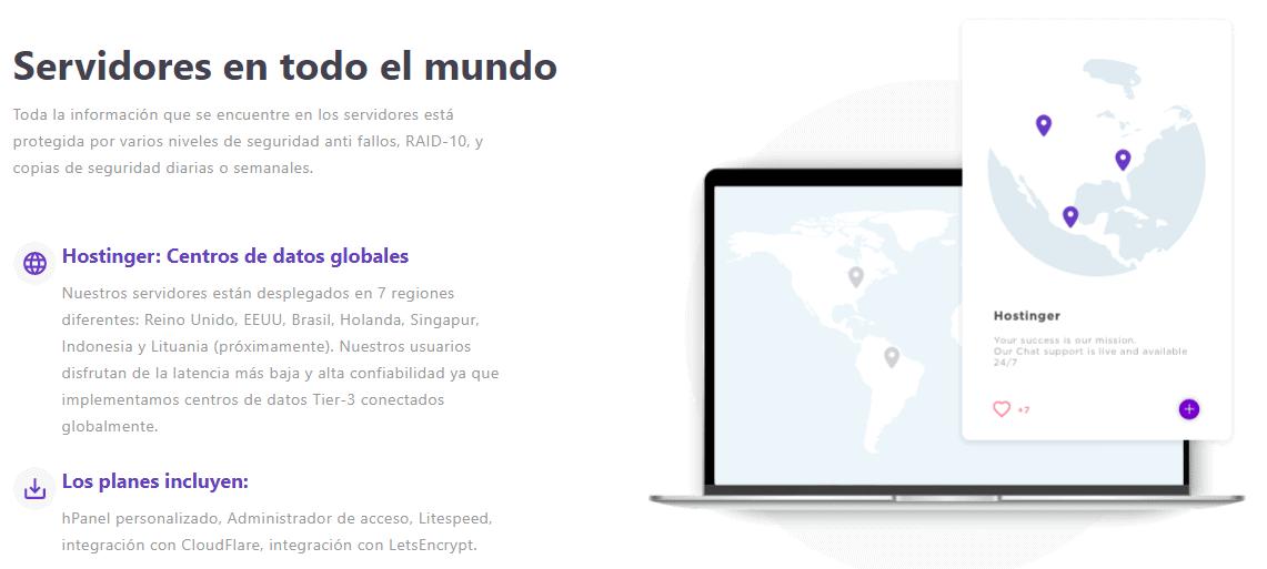 Hostinger - servers around the world