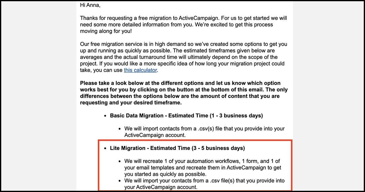 ActiveCampaign automation migration
