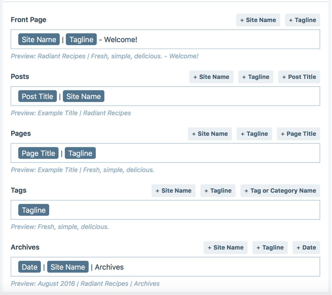 WordPress.com page title creator