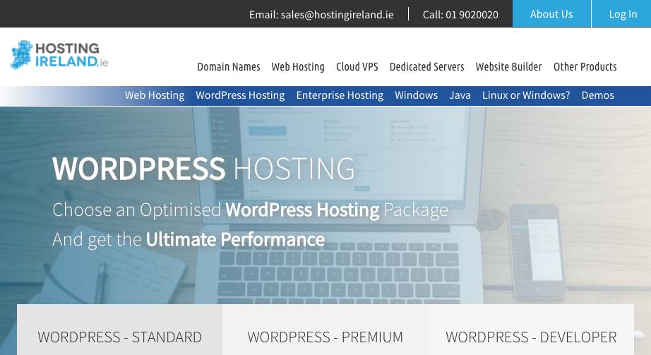 WordPress hosting from HostingIreland