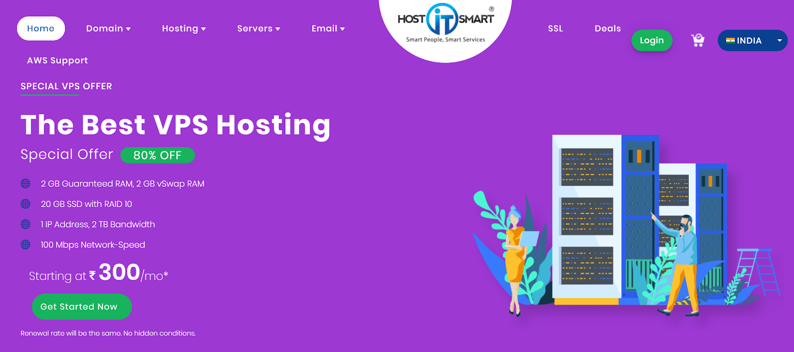 HostItSmart homepage