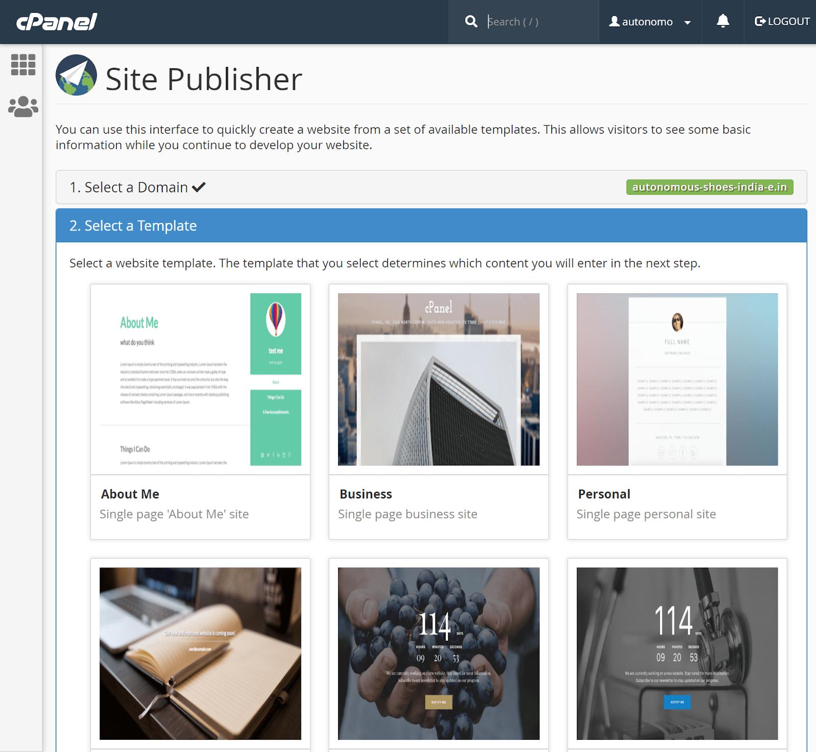 SitePublisher website builder