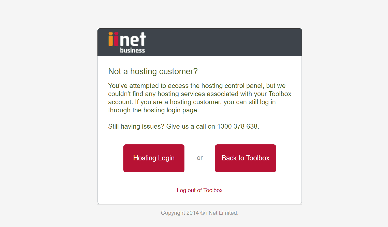 iiNet's dumb login switcher.
