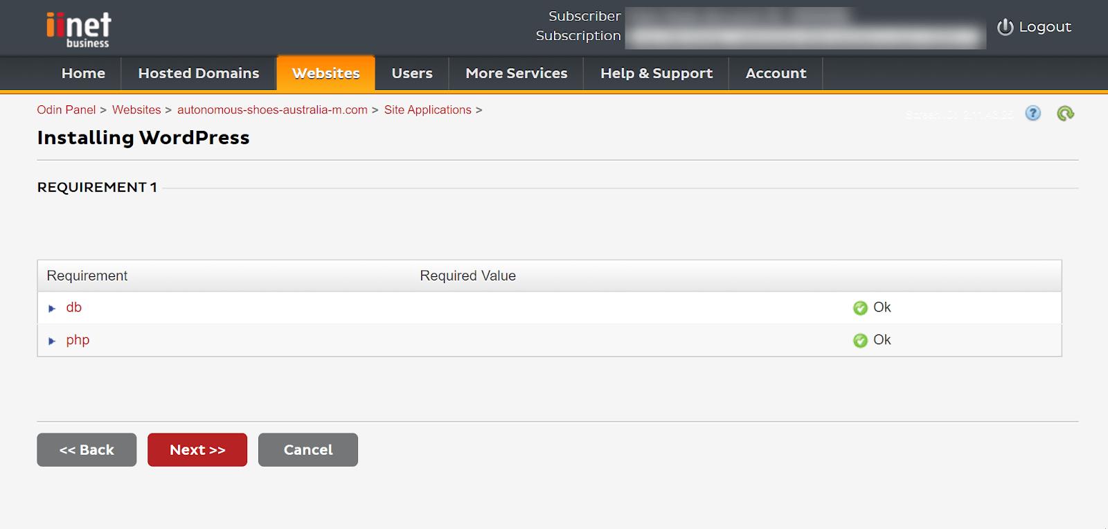 A confusing WordPress installer