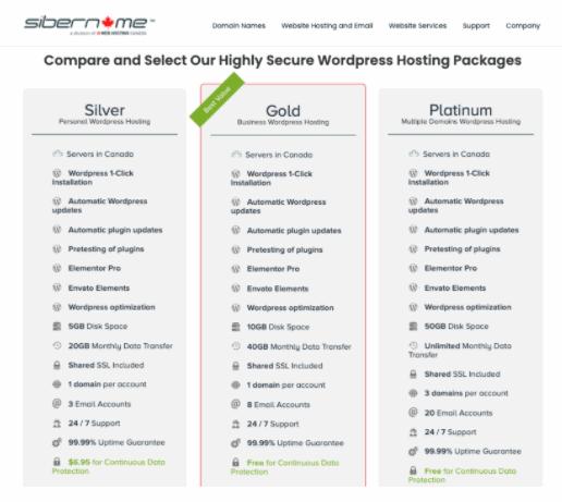 SiberName WordPress features