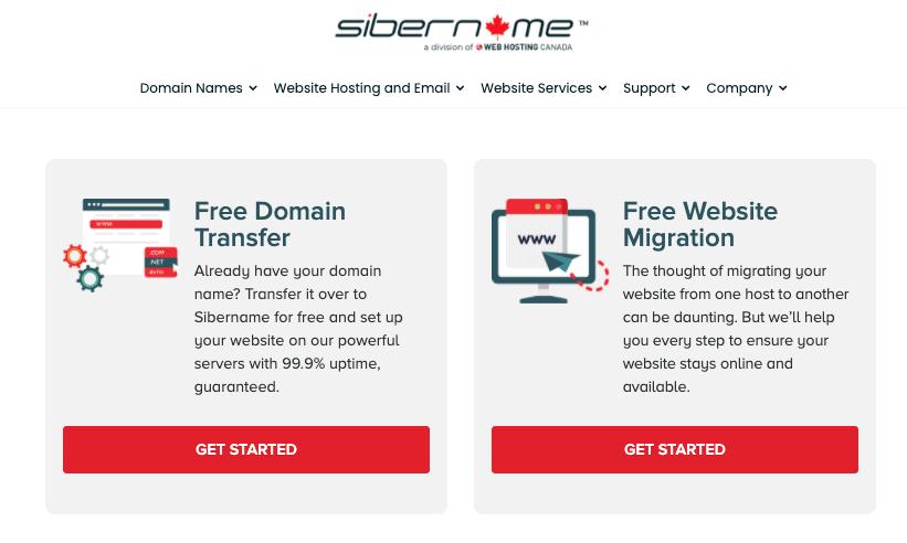 SiberName free domain and migration