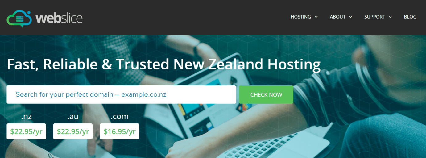 Webslice - Homepage