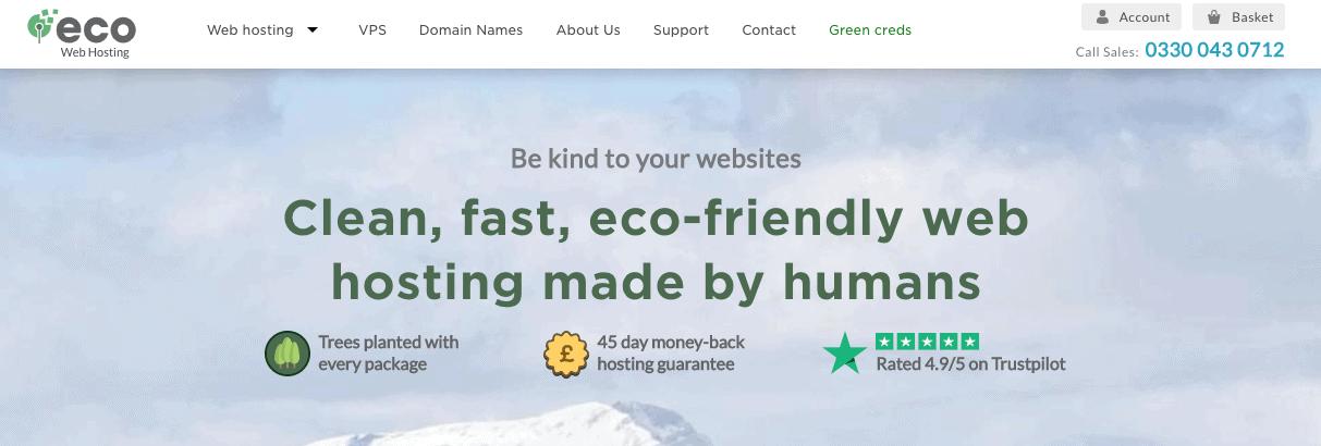 Eco Web Hosting shared hosting