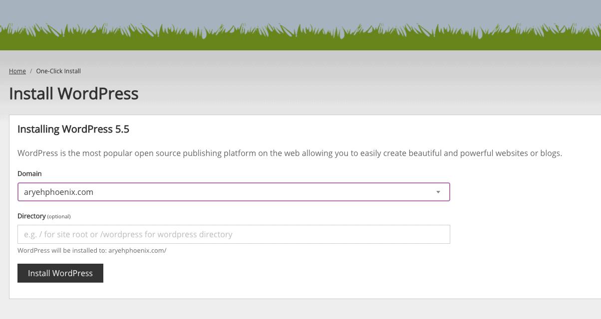 Installing WordPress with Eco Web Hosting