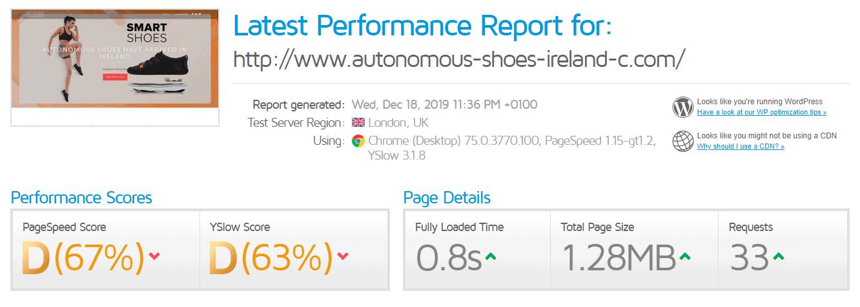 GTmetrix better performance Elive
