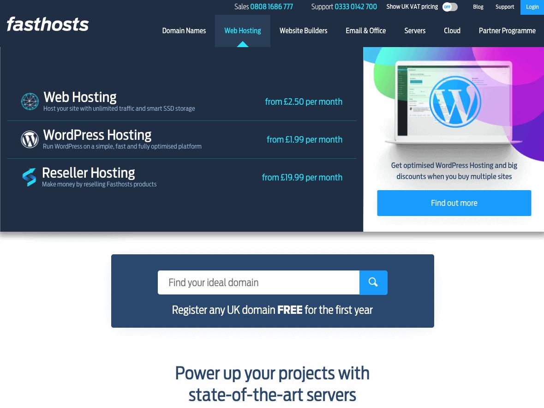 Fasthosts WordPress hosting