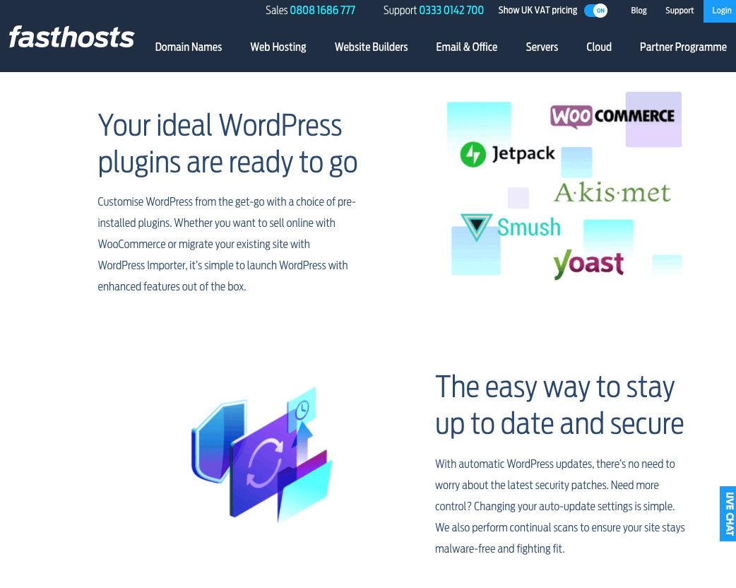 Fasthosts' automatic WordPress updates