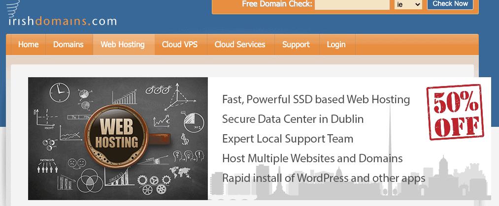 Irish Domains web hosting plans