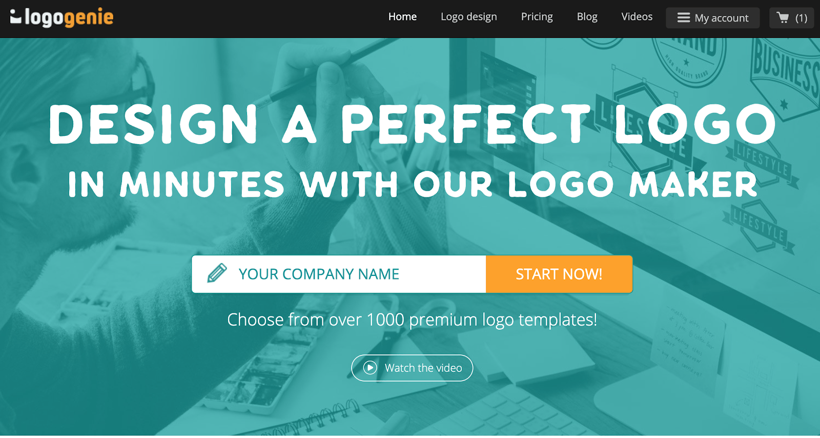 Logogenie homepage