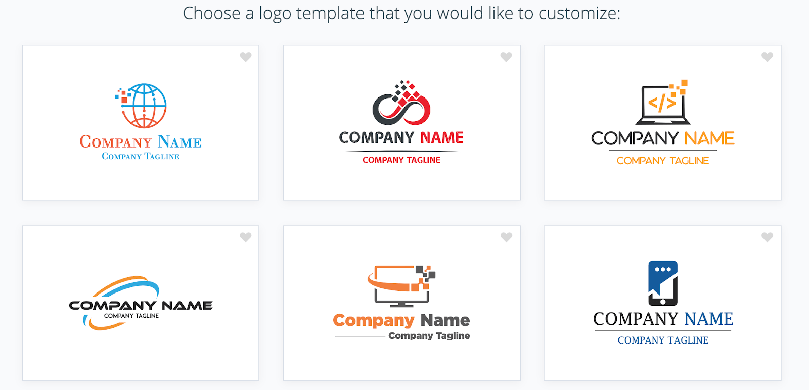 Logogenie's marketing logo templates