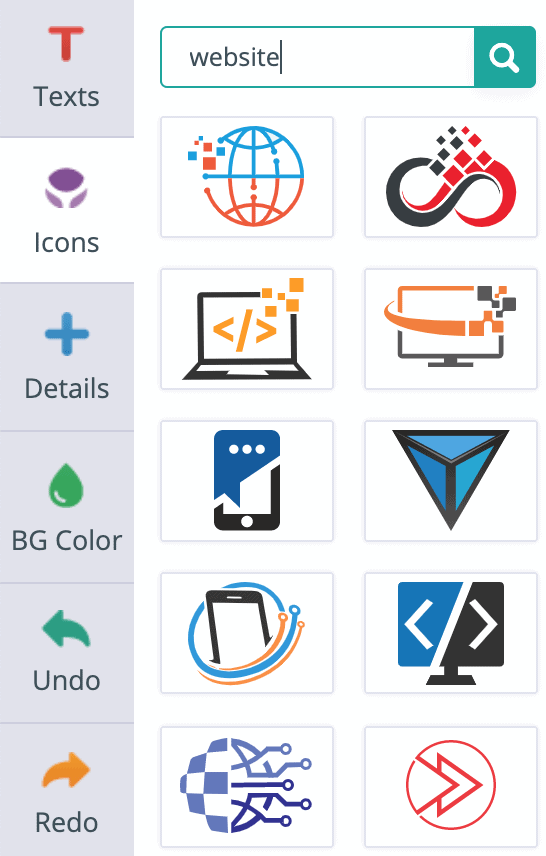 Sample of Logogenie's icon library