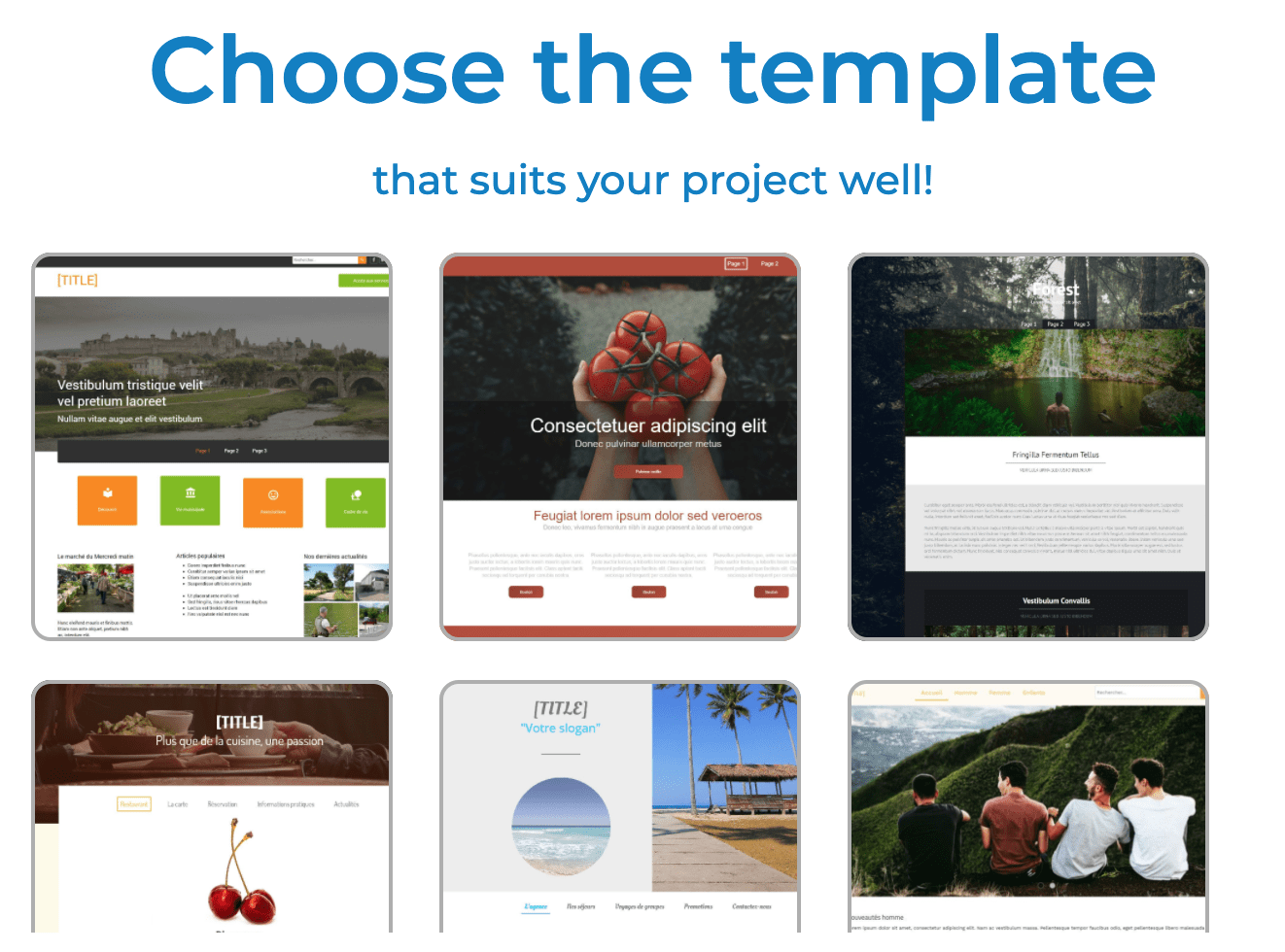 Website template options - SiteW
