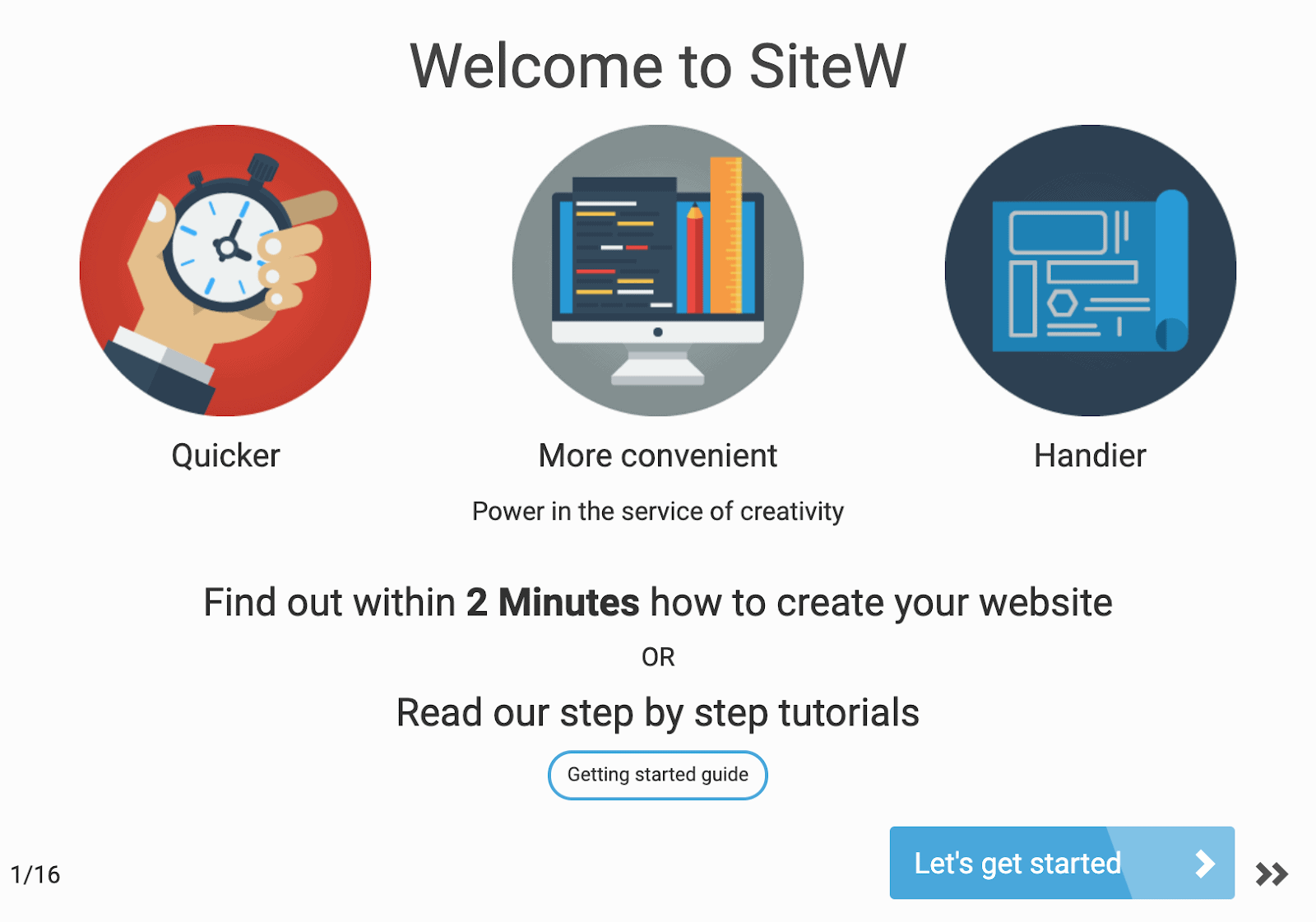 Start up tutorial - SiteW