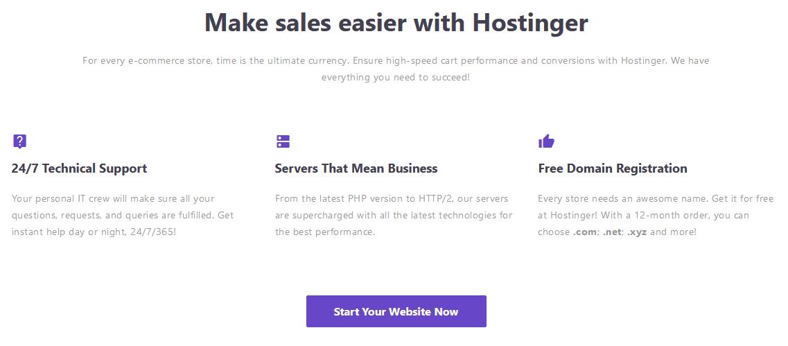 Hostinger's High-Speed Ecommerce Solutions