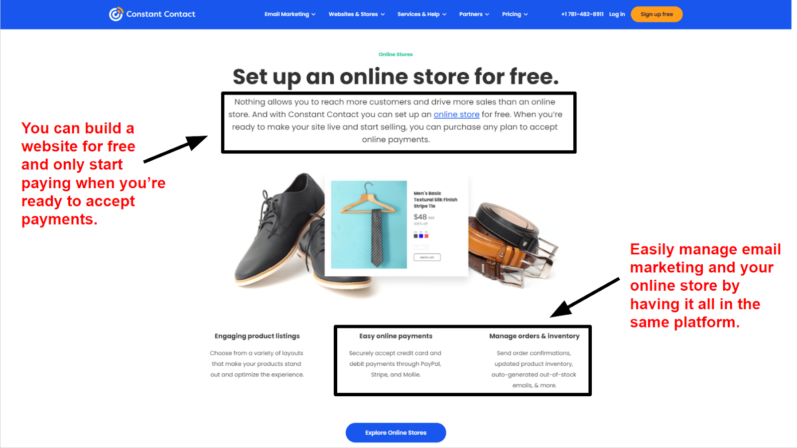Constant Contact - Online store
