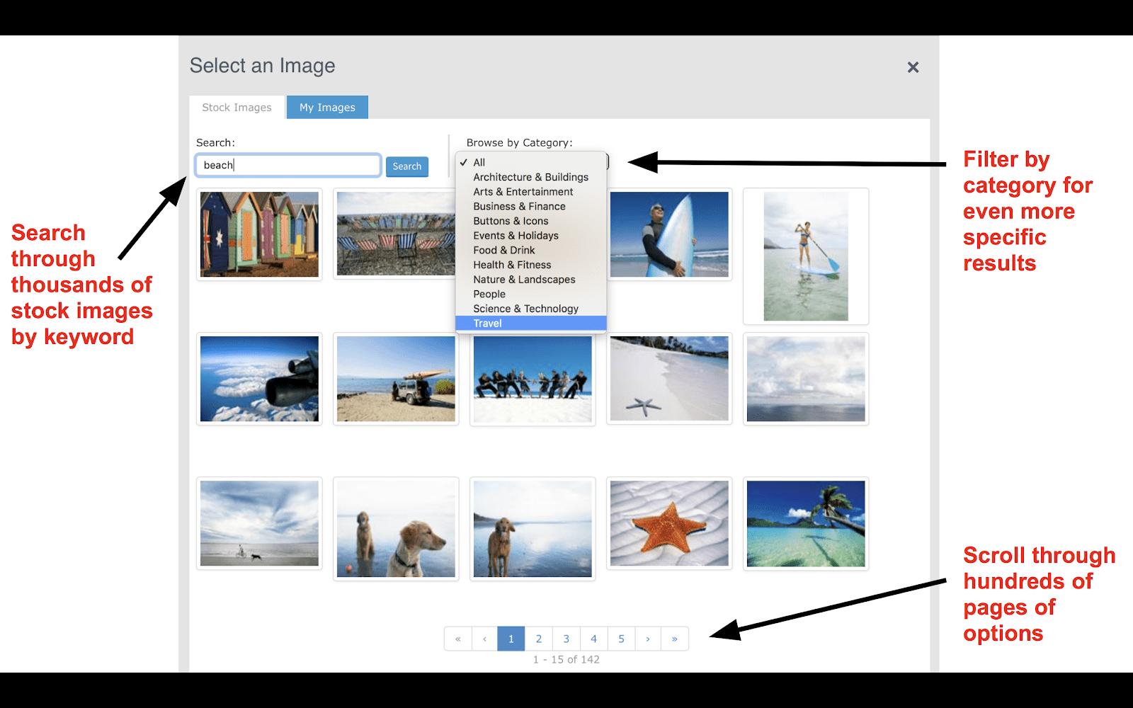 AWeber stock image library
