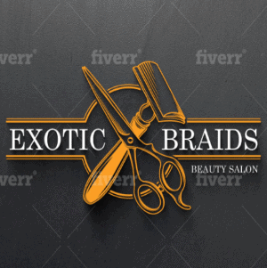 3D logo - Exotic Braids