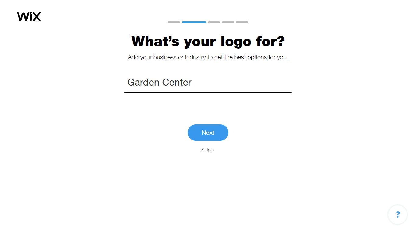 Wix Logo Maker screenshot - Choose industry