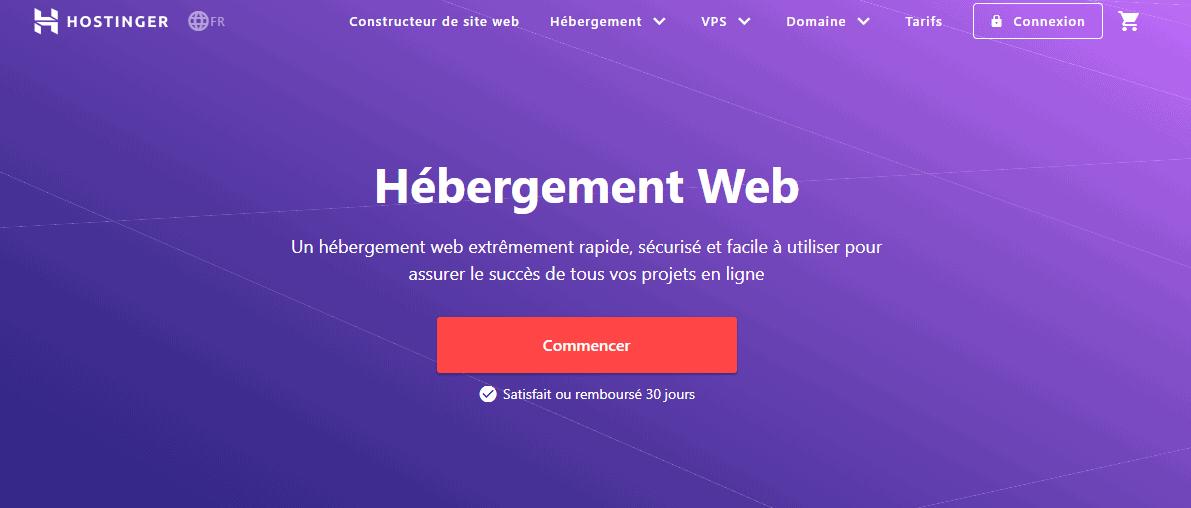Hostinger homepage