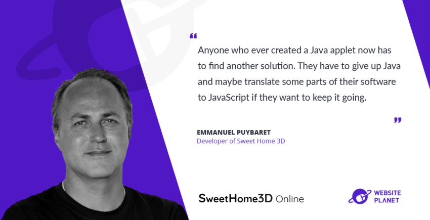 Interview with Sweet Home 3D Emmanuel Puybaret