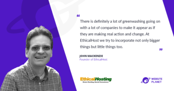 Interview with John MacKenzie, founder of EthicalHost