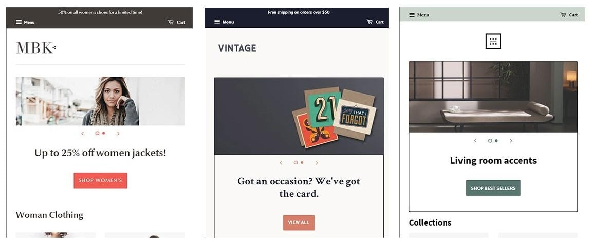 Shopify theme designs