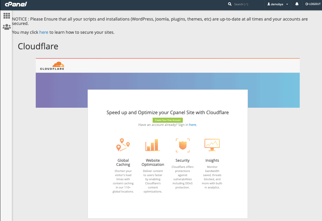 Cloudflare setup in iFastNet