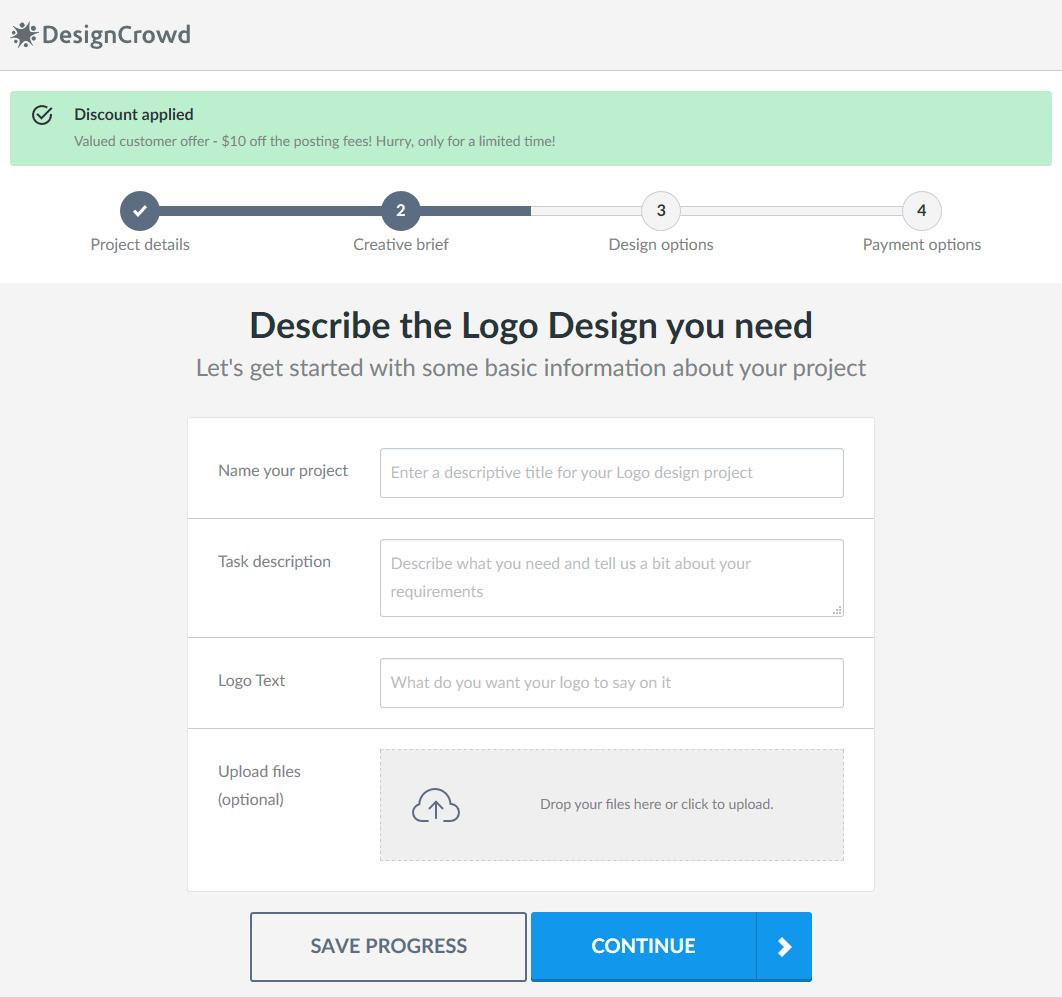 DesignCrowd brief process