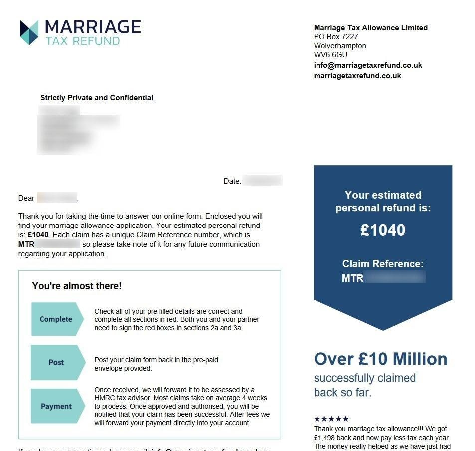 UK marriage tax relief specialist Exposes Customers\' Personal Information In Data Leak