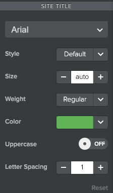 Font customization options - Weebly classic editor
