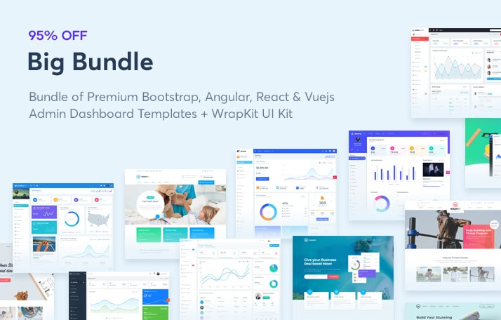 WrapPixel Offers Back-End Templates for Dashboards and Panels
