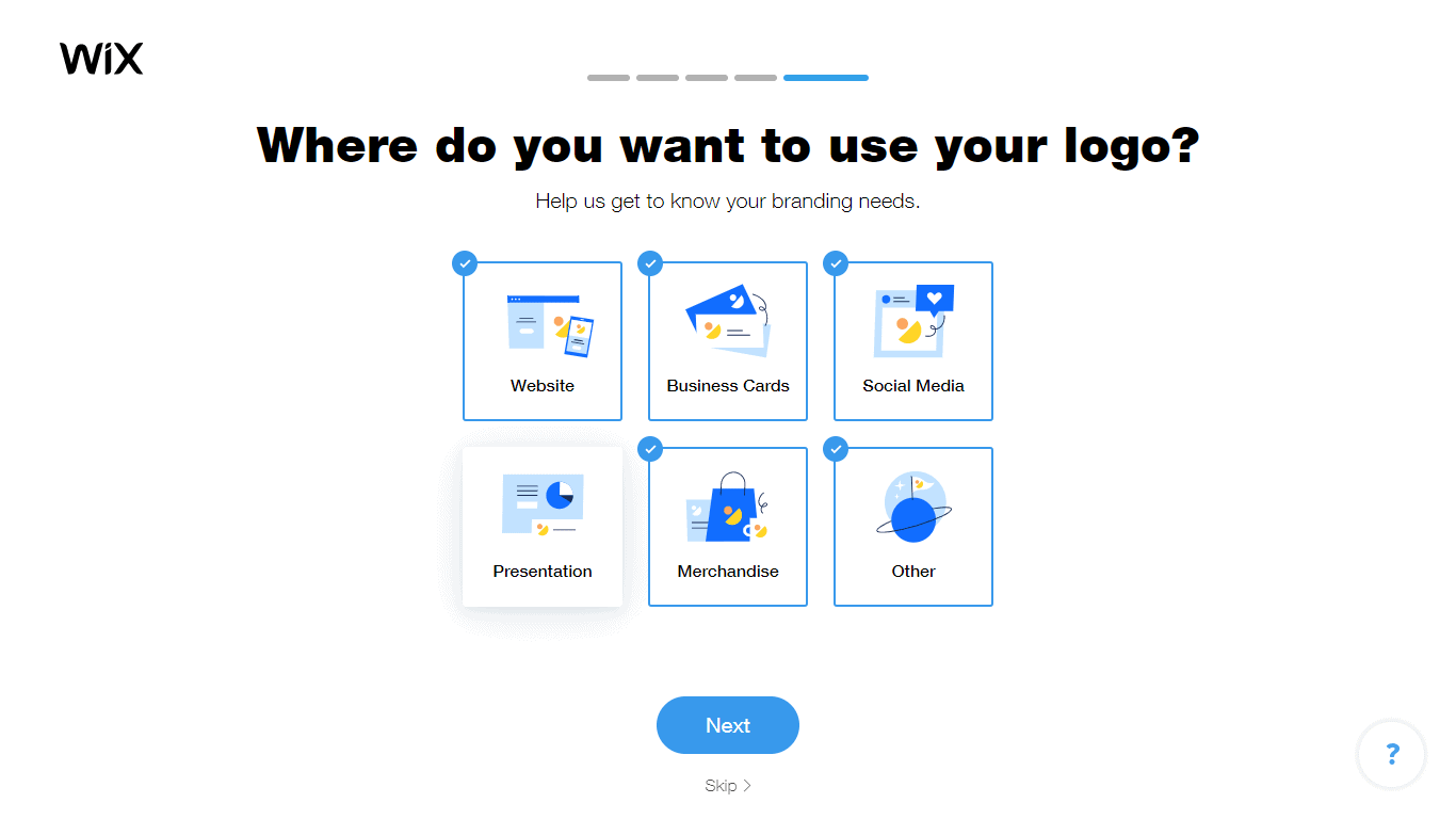 Wix Logo Maker screenshot - logo use