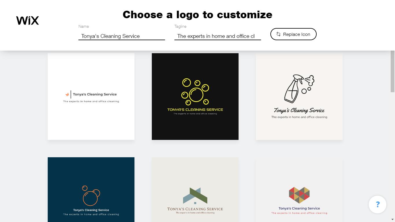 Wix Logo Maker screenshot - logo templates
