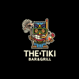 Colorful logo - The Tiki Bar & Gril