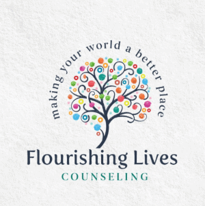 Colorful logo - Flourishing Lives Counseling