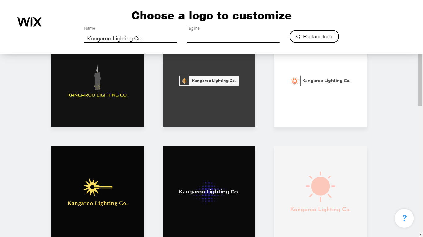Wix Logo Maker screenshot - logo templates