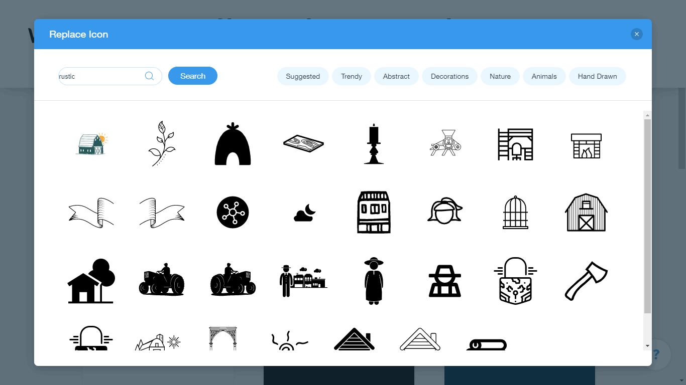 Wix Logo Maker screenshot - rustic icons