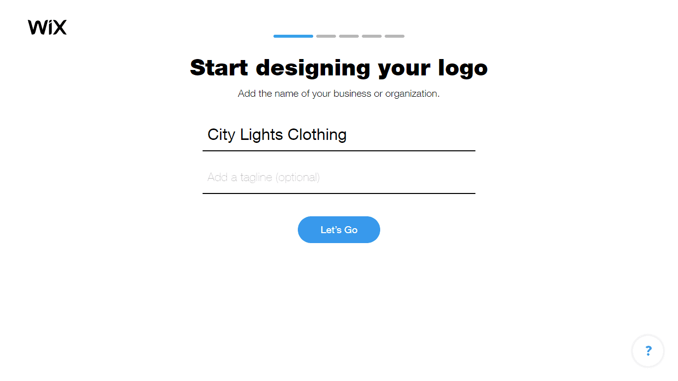 Wix Logo Maker screenshot - Enter company name