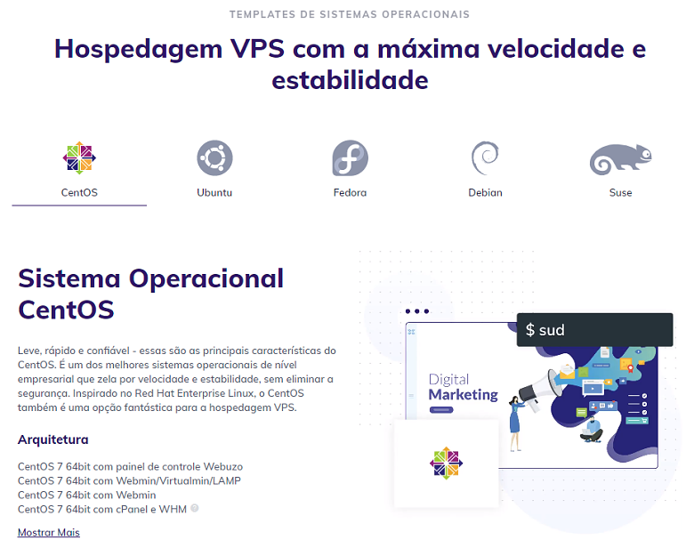 Hostinger's VPS features page