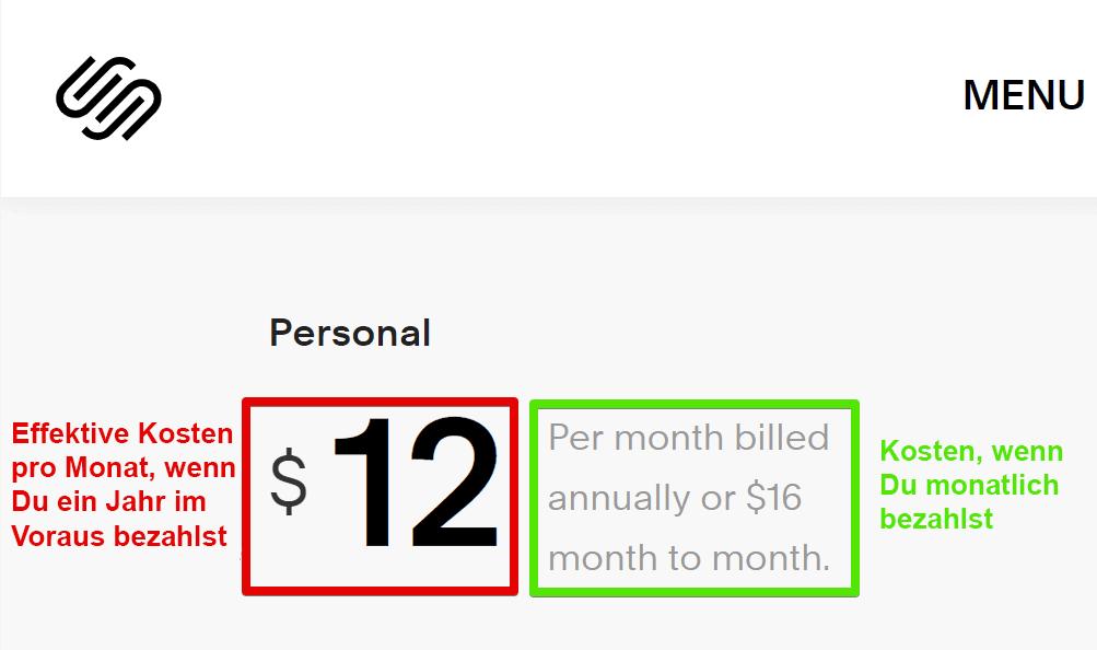 Squarespace-Preise Was kostet es WIRKLICH? (Update 2021)