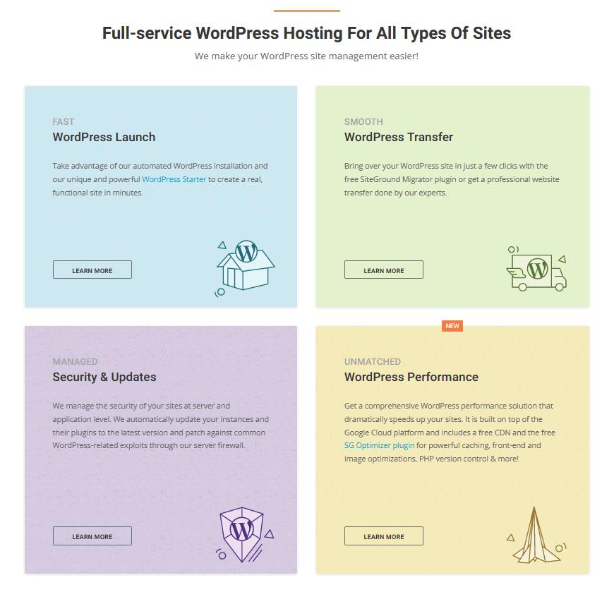 SiteGround's WordPress-optimized platform